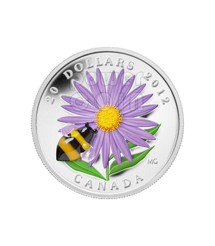 aster bumble bee venetian glass murano silver coin 20 canada 2012 power coin. Black Bedroom Furniture Sets. Home Design Ideas