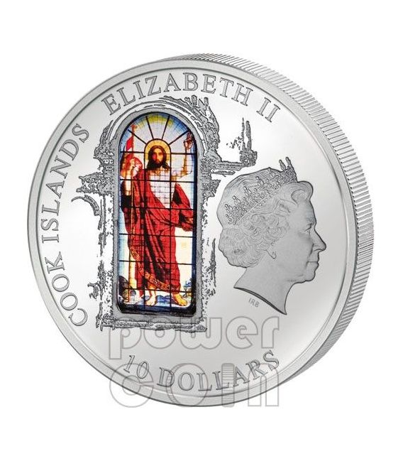 WINDOWS OF HEAVEN SAN PIETROBURGO Cattedrale San Isacco Moneta Argento 10$ Cook Islands 2012