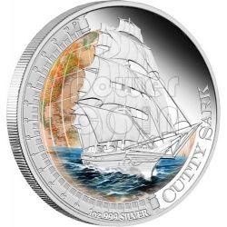CUTTY SARK Nave Ship Moneta Argento 1$ Tuvalu 2012