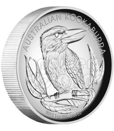 KOOKABURRA AUSTRALIANO Alti Rilievi Moneta Argento Proof 1 Oz 1$ Australia 2012