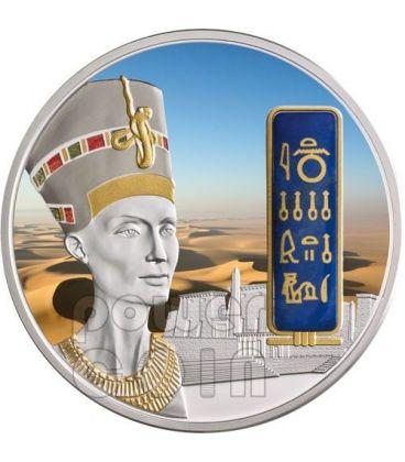 NEFERTITI Nofretete Moneta Argento Oro Palladio 2 Oz 50$ Fiji 2012