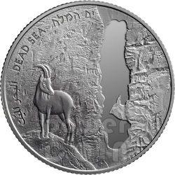 DEAD SEA 63rd Anniversary Independence Day Серебро Proof Монета 2 Нис Израиль  2011