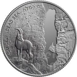 DEAD SEA 63rd Anniversary Independence Day Silber Proof Münze 2 NIS Israel 2011