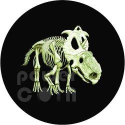 DINOSAUR GLOW IN THE DARK Pachyrhinosaurus Lakustai Coin 25c Canada 2012