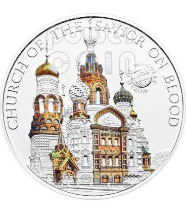 CHIESA SALVATORE Church Of The Savior on Blood World Of Wonders Moneta Argento 5$ Palau 2012