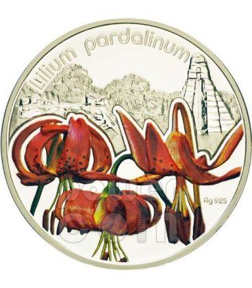 LILIUM PARDALINUM Lily Lilies Flower Silver Proof Coin 1$ Niue 2012