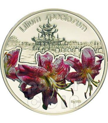 GIGLIO GIAPPONESE Lilium Speciosum Moneta Argento 1$ Niue 2012