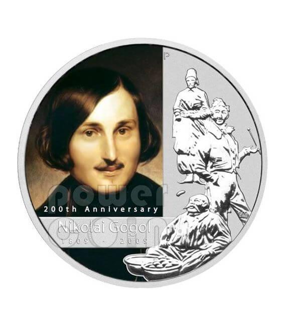 GOGOL Nikolai 200th Anniversary Silber Münze 1$ Tuvalu 2009
