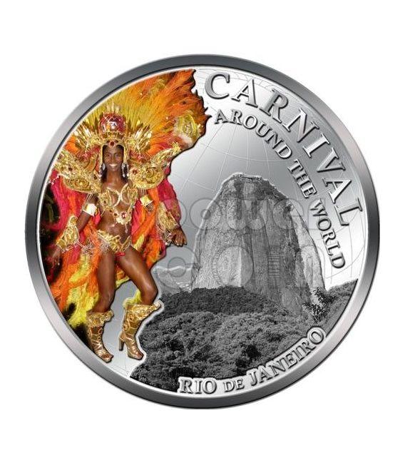 CARNIVAL AROUND THE WORLD Carnevale Rio Brasile Moneta 1$ Fiji 2012