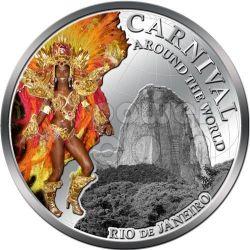 CARNIVAL AROUND THE WORLD Rio Brazil Coin 1$ Fiji 2012