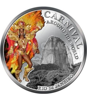 CARNIVAL AROUND THE WORLD Carnevale Rio Brasile Moneta 1$ Fiji 2012