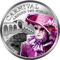 CARNIVAL AROUND THE WORLD Venice Italy Coin 1$ Fiji 2012