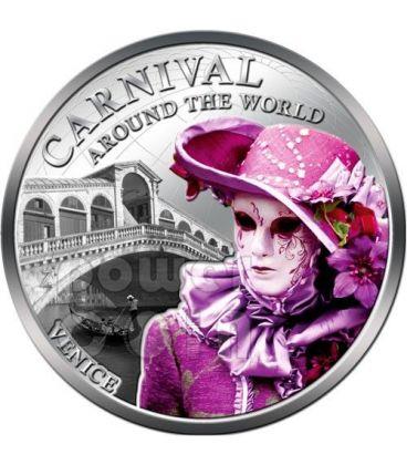 CARNIVAL AROUND THE WORLD Carnevale Venezia Moneta 1$ Fiji 2012