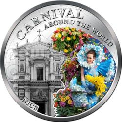 CARNIVAL AROUND THE WORLD Carnevale Nizza Francia Moneta 1$ Fiji 2012