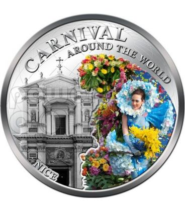 CARNIVAL AROUND THE WORLD Carnevale Nizza Francia Moneta 1$ Fiji 2012