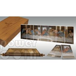 ULTIMA CENA Leonardo Da Vinci Giants of Art Set 7 Monete Argento 5$ Niue 2012