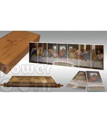 ULTIMA CENA Leonardo Da Vinci Giants of Art Set 7 Monete Argento 5$ Niue 2012