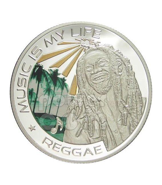 MUSIC IS MY LIFE REGGAE Bob Marley Musica Moneta 1$ Fiji 2012