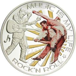 MUSIC IS MY LIFE ROCK N ROLL Elvis Presley Moneda 1$ Fiji 2012