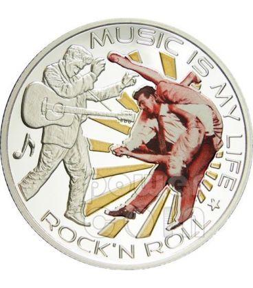 MUSIC IS MY LIFE ROCK N ROLL Elvis Presley Coin 1$ Fiji 2012