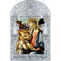 MADONNA VIRGIN CHILD AND ANGELS Botticelli Renaissance Silver Coin 15D Andorra 2012
