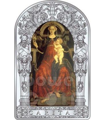 CHARITY SEVEN VIRTUES Pollaiuolo Botticelli Renaissance Silver Coin 10D Andorra 2012