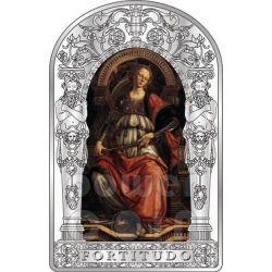 FORTITUDE SEVEN VIRTUES Pollaiuolo Botticelli Renaissance Silver Coin 10D Andorra 2012