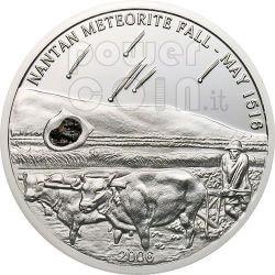 NANTAN METEORITE Silber Münze 5$ Palau 2006