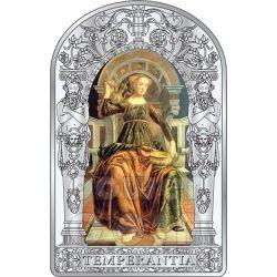 TEMPERANZA SETTE VIRTU Pollaiuolo Botticelli Rinascimento Moneta Argento 10D Andorra 2012
