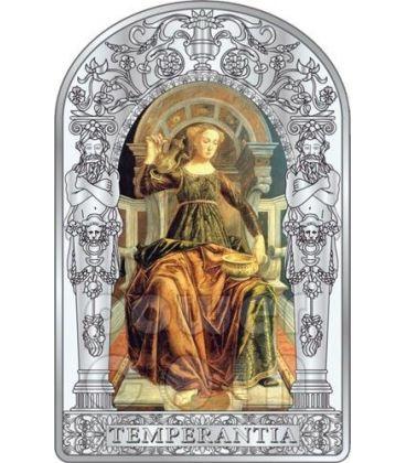 TEMPERANCE SEVEN VIRTUES Pollaiuolo Botticelli Renaissance Silver Coin 10D Andorra 2012