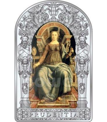 PRUDENZA SETTE VIRTU Pollaiuolo Botticelli Rinascimento Moneta Argento 10D Andorra 2012