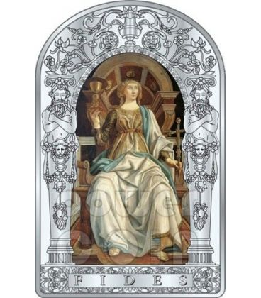 FEDE SETTE VIRTU Pollaiuolo Botticelli Rinascimento Moneta Argento 10D Andorra 2012