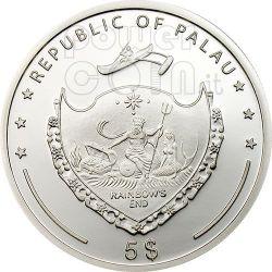 NANTAN METEORITE Moneta Argento 5$ Palau 2006