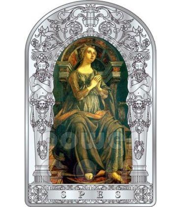 HOPE SEVEN VIRTUES Pollaiuolo Botticelli Renaissance Silver Coin 10D Andorra 2012