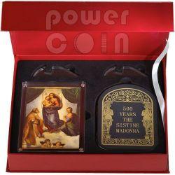 SISTINE MADONNA Raffaello Sanzio Jubilee 1 Kg Kilo Silver Coin 100D Andorra 2012