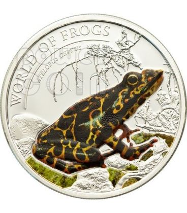 RANA ARANCIONE Atelopus Certus World Of Frogs Moneta Argento 2$ Palau 2011