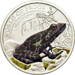 RANA PORPORA Atelopus Certus World Of Frogs Moneta Argento 2$ Palau 2011