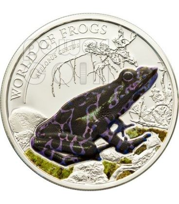 PURPLE FROG Atelopus Certus World Of Frogs Silver Coin 2$ Palau 2011