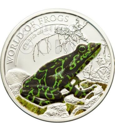 GREEN FROG Atelopus Certus World Of Frogs Silver Coin 2$ Palau 2011