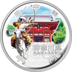 KANAGAWA 47 Prefectures (21) Silver Proof Coin 1000 Yen Japan Mint 2012
