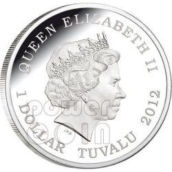 FUNNEL WEB SPIDER Australia Deadly Dangerous Silber Münze 1$ Tuvalu 2012