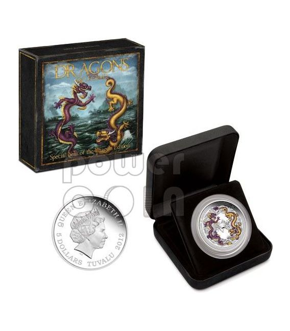CHINESE DRAGON Special Edition Dragons Of Legend 5 Oz Silver Coin 5$ Tuvalu 2012