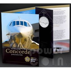 CONCORDE Airplane BU Монета Pack £5 Олдерни UK Royal Mint 2008