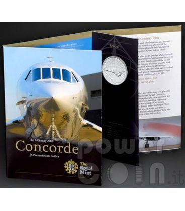 CONCORDE Airplane BU Coin Pack £5 Alderney UK Royal Mint 2008