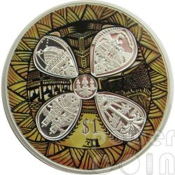 SAMOA 50 YEARS OF FRIENDSHIP Silber Proof Münze 1$ New Zealand 2012