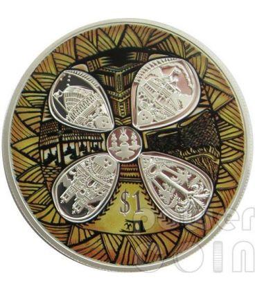 AMICIZIA CON SAMOA 50 Anniversario Moneta Argento 1$ Nuova Zelanda 2012