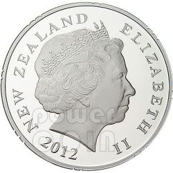 SAMOA 50 YEARS OF FRIENDSHIP Silber Proof Münze 1$ New Zealand 2012