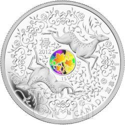 MAPLE OF GOOD FORTUNE Acero della Buona Fortuna Moneta Ologramma Argento 15$ Canada 2012