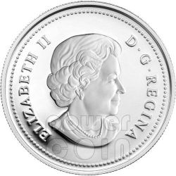MAPLE OF GOOD FORTUNE Hologram Silver Coin 15$ Canada 2012