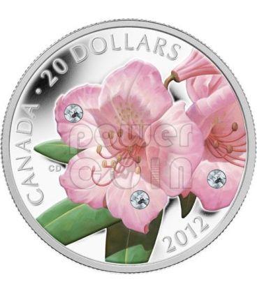RHODODENDRON CRYSTAL DEW Silver Coin Swarovski Crystal 20$ Canada 2012